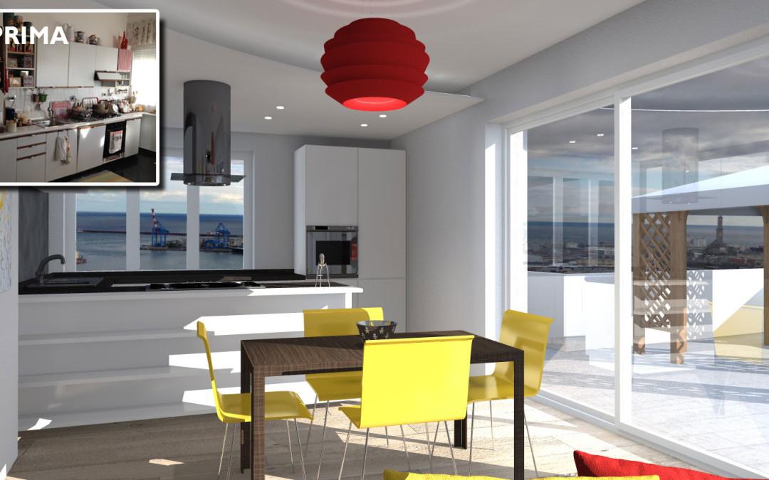 Cucina Soggiorno Open Space 20 Mq: Arredo per cucina e soggiorno open space F...