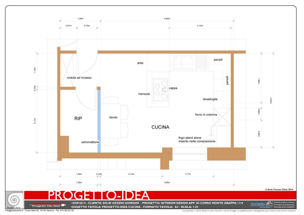 Progetti cucine con isola immagine with progetti cucine - Pianta di una cucina ...