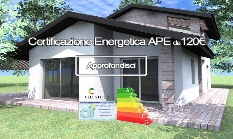 Certificazione Energetica APE a partire da 120€