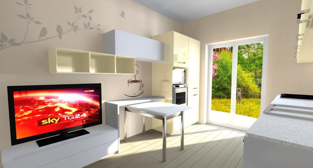 MODELLAZIONE 3D cucina2