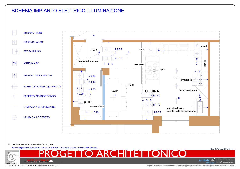Cucina con penisola cottura for Progetto impianto elettrico casa